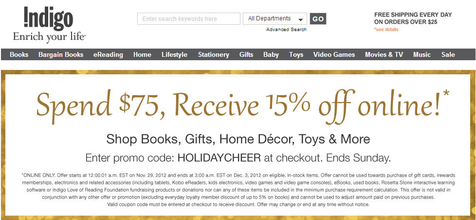 Indigo discount coupon