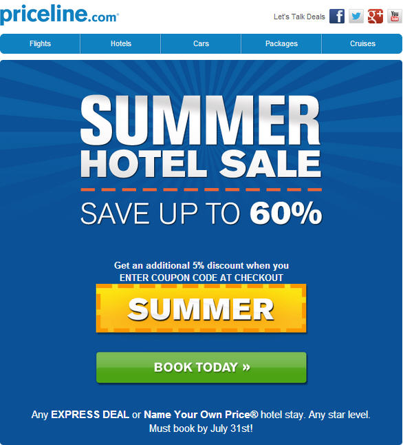 Priceline coupon code 2018